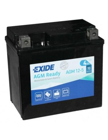 Bateria de Moto Exide AGM12-5 12V - 4Ah - 70A