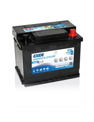 Bateria Exide EP500 Dual AGM 12V - 60Ah - 680A