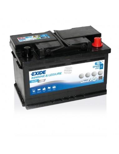 Batería Exide EP600 Dual AGM 12V - 70Ah - 760A