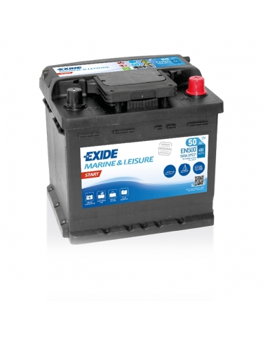 Batería Exide EN500  12V - 50Ah - 450A