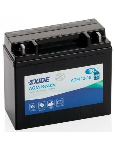 Bateria de Moto Exide Factory Sealed AGM12-18  12V - 18Ah - 250A