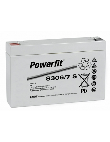 BATERIA AGM POWERFIT S306/7 S