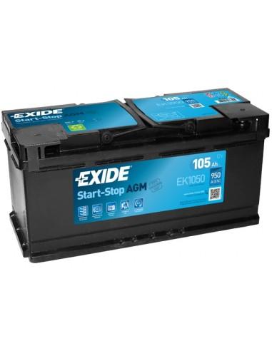Batería Exide EK1050 - AGM - 12V - 105h - 950A - Start-Stop
