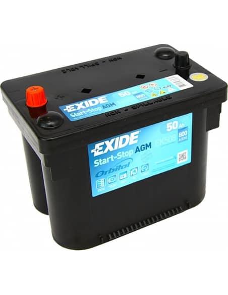 Batería Exide EK508 - AGM 12V - 50Ah - 800A - Start-Stop